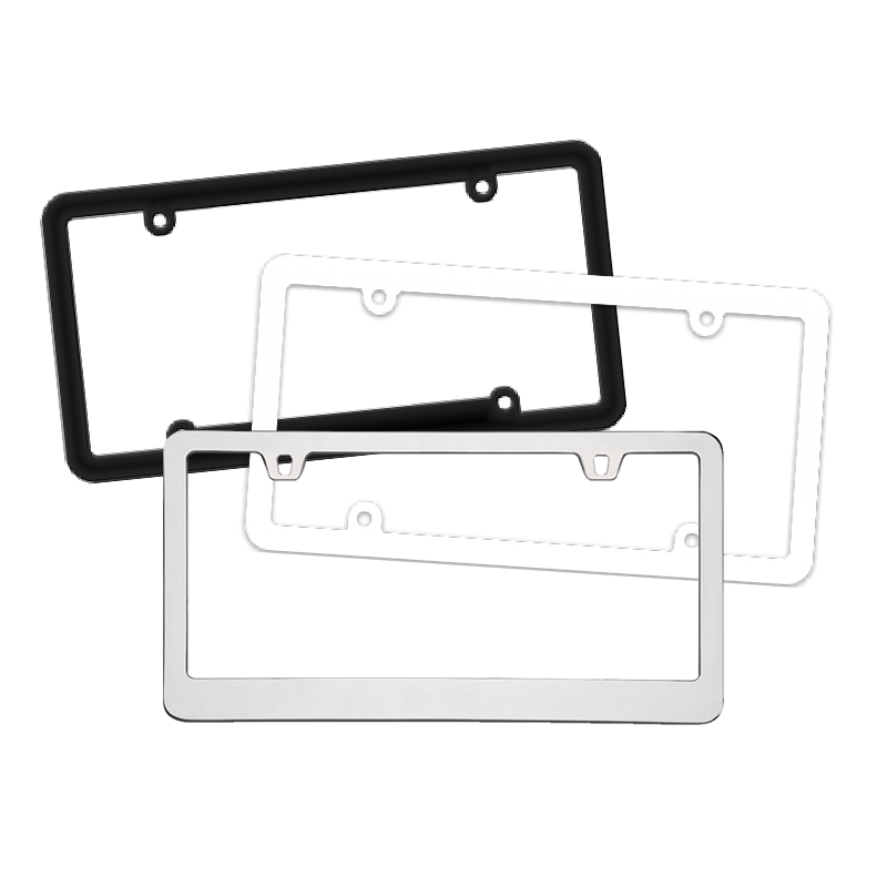 Blank License Plate Frames