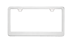 Blank Metal License Plate Frames
