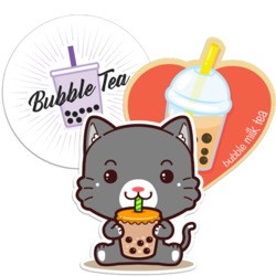 Boba and Bubble Tea Car Stickers and Decals