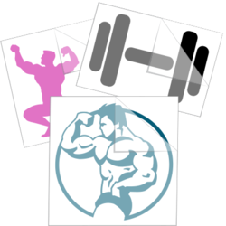 Bodybuilding & Weight Training Car Stickers and Decals