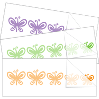 Butterfly Family Stick Figure Car Stickers and Decals