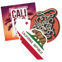 California Car Stickers and Decals
