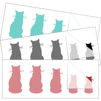 Cat Family Stick Figure Stickers and Decals