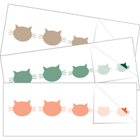 Cat Head Family Stick Figure Stickers and Decals