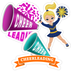 Cheerleader Car Stickers and Decals