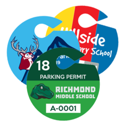 Circle Hang Tag Parking Permits