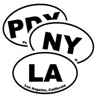 City Oval Stickers and Decals - U.S. Cities