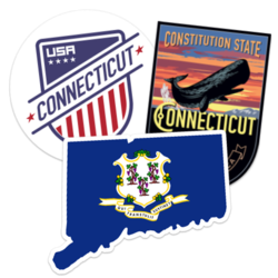 Connecticut Car Stickers and Decals