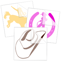 Cowboys, Cowgirls & Rodeo Stickers and Decals