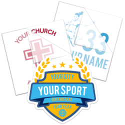 Sport and School Fundraiser Stickers and Decals