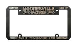 Custom Raised Lettering Plastic License Plate Frames
