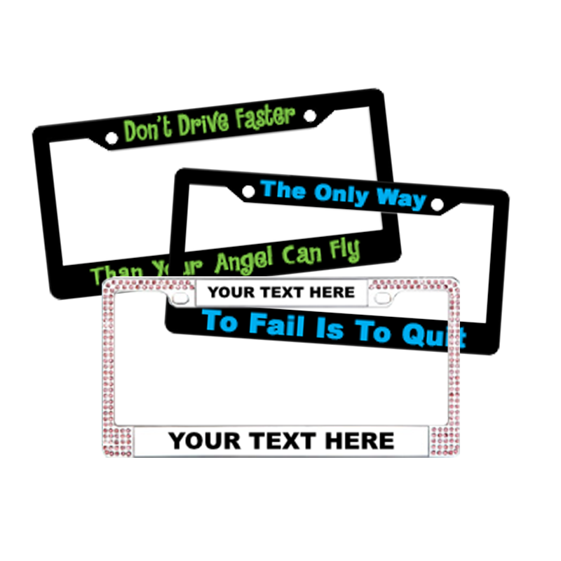 Customizable License Plate Frames