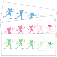 Dancing Frog Family Stick Figure Stickers
