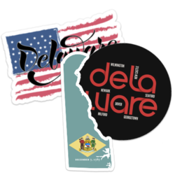 Delaware Car Stickers and Decals