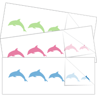 Dolphin Family Stick Figure Stickers and Decals