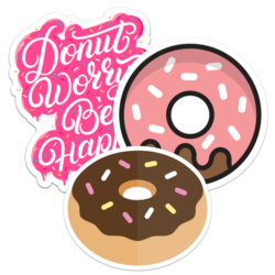 Donut Car Stickers and Decals