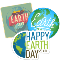 Earth Day Car Stickers and Decals