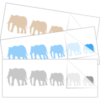 Elephant Family Stick Figure Stickers and Decals