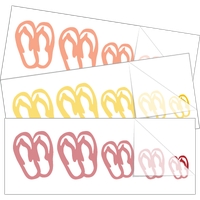 Flip Flop Family Stick Figure Stickers and Decals