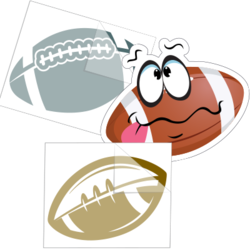Football Car Stickers and Decals