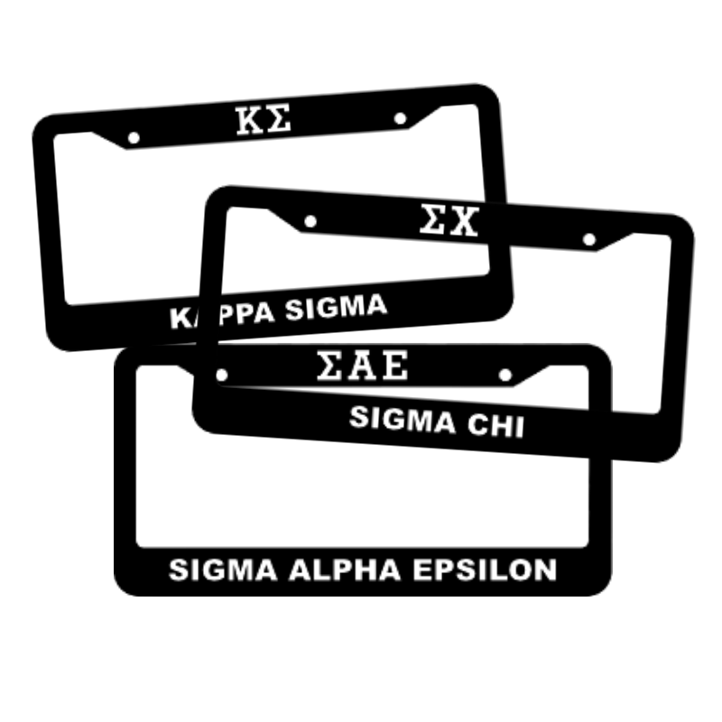 Fraternity License Plate Frames