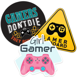 Gamer Car Stickers and Decals