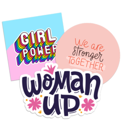 Girl Power Feminism Car Stickers and Decals