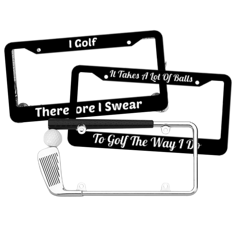 Golf License Plate Frames