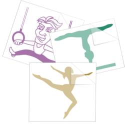 Gymnastics & Tumbling Car Stickers and Decals