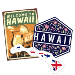 Hawaii Car Stickers and Decals