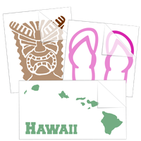 Hawaiian and Tropical Stickers and Decals