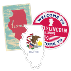 Illinois Car Stickers and Decals