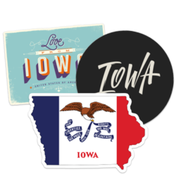 Iowa Car Stickers and Decals