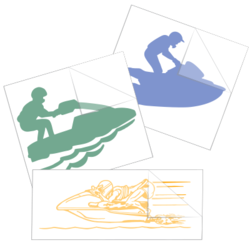 Jet Skiing Car Stickers and Decals