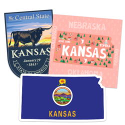 Kansas Car Stickers and Decals