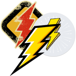 Lightning Bolt Car Stickers and Decals