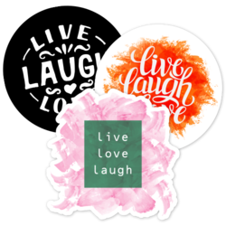 Live Laugh Love Car Stickers and Decals