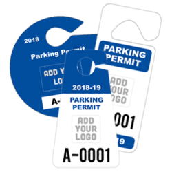 Hang Tag Parking Permits With Your Logo