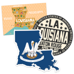 Louisiana Car Stickers and Decals