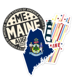 Maine Car Stickers and Decals