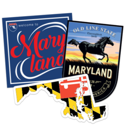 Maryland Car Stickers and Decals