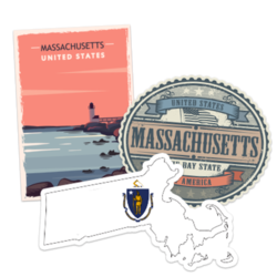 Massachusetts Car Stickers and Decals