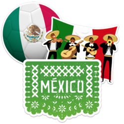 Mexico Car Stickers and Decals
