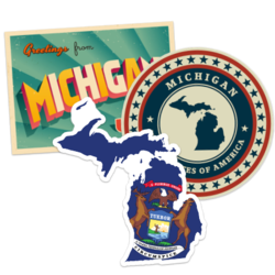 Michigan Car Stickers and Decals