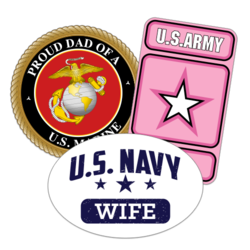 Military Family Car Stickers and Decals