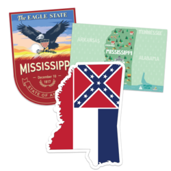 Mississippi Car Stickers and Decals
