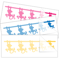 Monkey Family Stick Figure Stickers and Decals