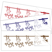 Monkeys with Faces Family Stick Figure Sticker