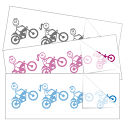 Motorcycle Family Sticker and Decal Singles