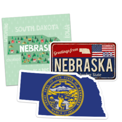Nebraska Car Stickers and Decals